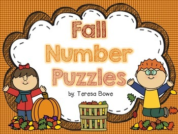 Fall Color & Cut Number Puzzles