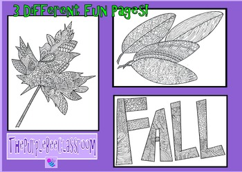 Fall Coloring Pages Fun Shapes (For adults also!)