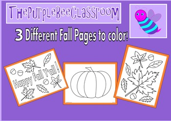 Fall Coloring Pages Set 1