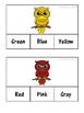 Fall Colors Clip Cards: 3 Levels!! 11 Colors!