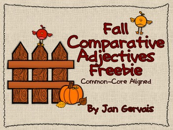 Fall Comparative Adjectives Freebie