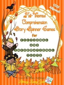 """""""Fall"""" Comprehension Story Spinner Games for Fictional and"""