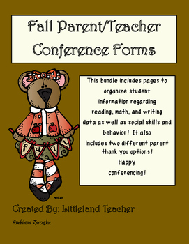 Fall Conferences Data Sheets (Pre-K- Kindergarten)