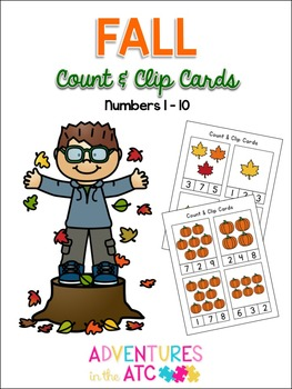 Fall Count & Clip Cards