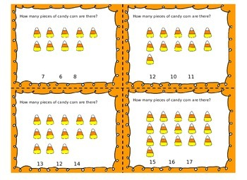 Fall Counting 0-20 Task Cards