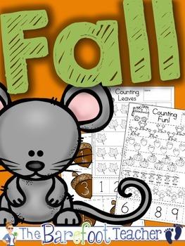 Fall Math - Counting Activity Sheets