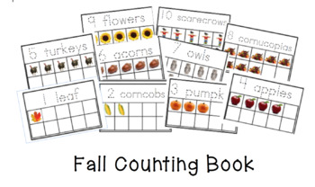 Fall Counting Book with Ten frames
