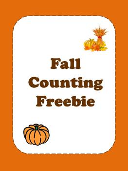 Fall Counting Freebie