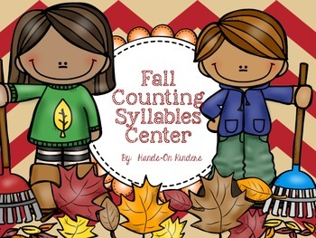 Fall Counting Syllables Literacy Center