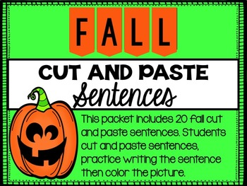 Fall Cut and Paste Sentences