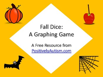 Fall Dice: A Fall or Halloween Theme Graphing Game (Freebie)