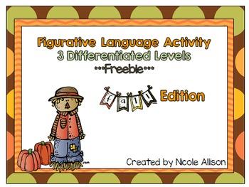 Fall Differentiated Figurative Language {Freebie!}