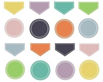 Fall Digital Labels Clip Art Set #074