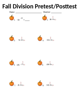 Fall Division Pretest/Post test