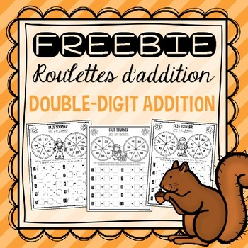 FREEBIE Fall Addition Spinners/Roulettes d'addition pour l