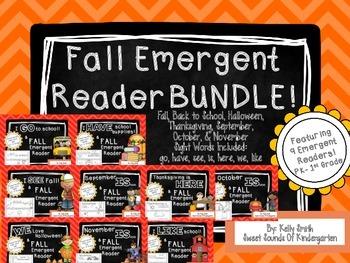 Fall Emergent Readers- BUNDLE!
