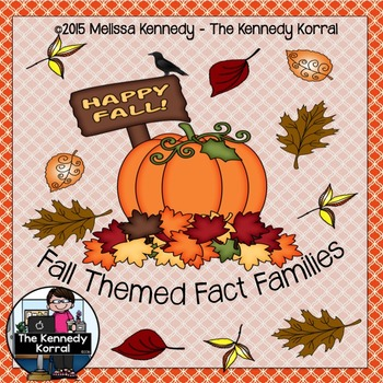 Fall Fact Families {Pumpkins, Candy Corn, Crows, Candy App