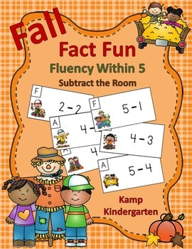 Fall Fact Fun Fluency Within 5 Subtract the Room
