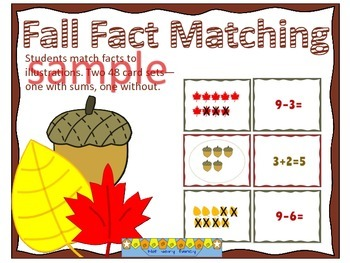 Fall Fact Picture Matching Center (Freebie)