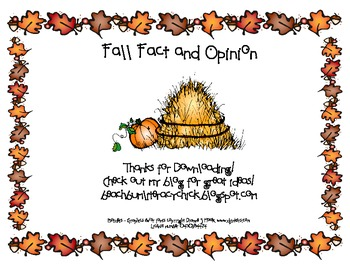 Fall Fact and Opinion - Game