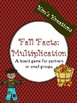 Fall Facts (Multiplication): 26 Fall board games (color an