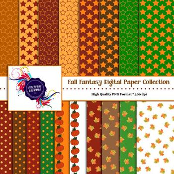 Digital Paper - Fall Fantasy Collection Backgrounds