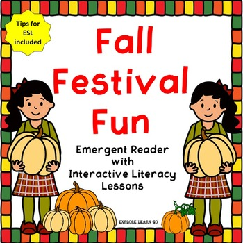 Fall Festival Fun Emergent Reader with Interactive Literac