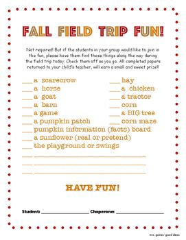 Fall Field Trip Fun!