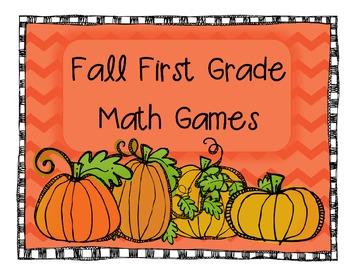 Fall First Grade Math Games