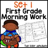 First Grade Morning Work Set 1