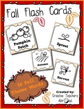 Fall Flash Cards