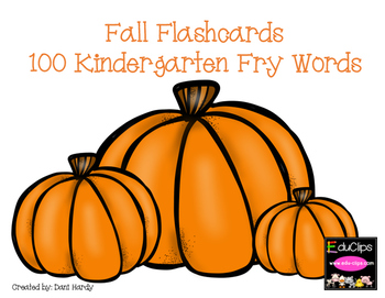 Fall Flashcards 100 Fry Words