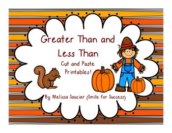Fall Freebie ( Greater Than & Less Than)