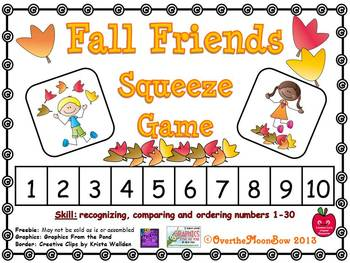 Fall Friends Squeeze Number Game