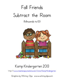 Fall Friends Subtract the Room (Minuends to 10)