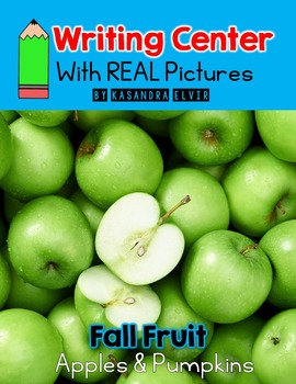 Fall Fruit Writing Center with REAL Pictures