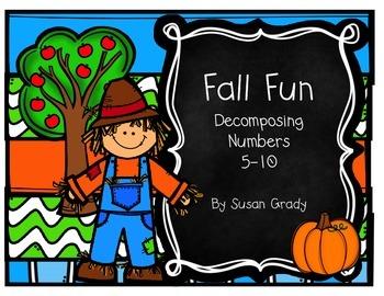 Fall Fun:  Decomposing Numbers 5-10