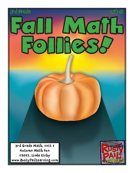 Fall Fun-Math Problem Solving–3rd Grade-Sneak Peek (Hallow
