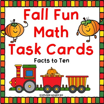Fall Fun Math Task Cards for Addition and Subtraction Fact
