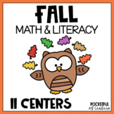 Fall Math and Literacy Centers {BUNDLE}