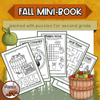Fall Fun Mini-Book of Puzzles for Second Graders