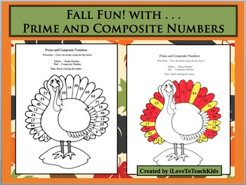 Fall Fun! Prime and Composite Numbers Math Activity