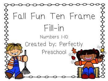 Fall Fun Ten Frame Fill-in {Dollar Deal}
