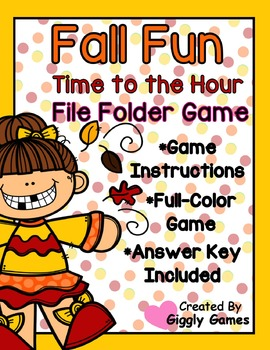 Fall Fun Time to the Hour File Folder Game