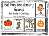 Fall Fun Vocabulary Books- 5 Books in 1!!