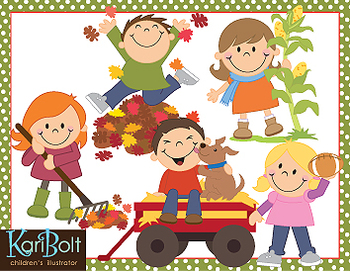 Fall Fun and Scarecrows Clip-Art