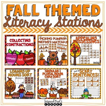Fall Literacy Centers {CCSS ELA Centers for Second and Thi