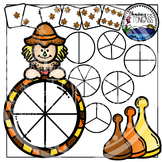 Fall Spinner Games Clipart Bundle