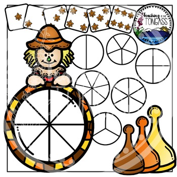 Fall Clipart Bundle Spinner Games