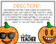 Fall Glitter Pumpkin Emoji Partner Cards